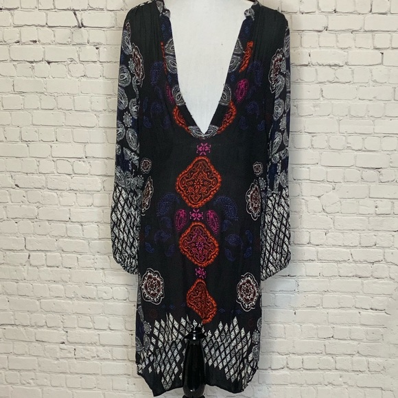 Anthropologie Free People peasant dress/ cover up